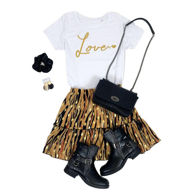 Shirt Zwart/Wit - 'Love' - Supersale