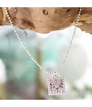 Ketting Zilver  Flowers-Supersale