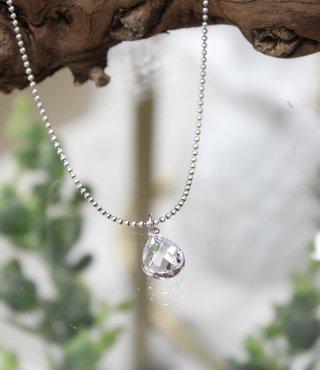 Ketting Zilver - Crystal Druppel
