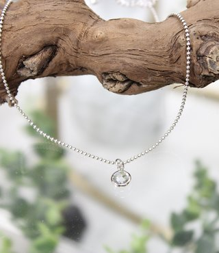 Ketting Zilver - Diamond Rond