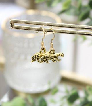 Oorbellen Goud - Luipaard