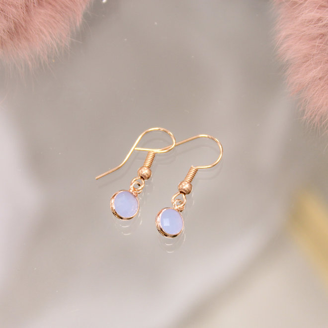 Ketting Rose - Diamond  Blue Opal