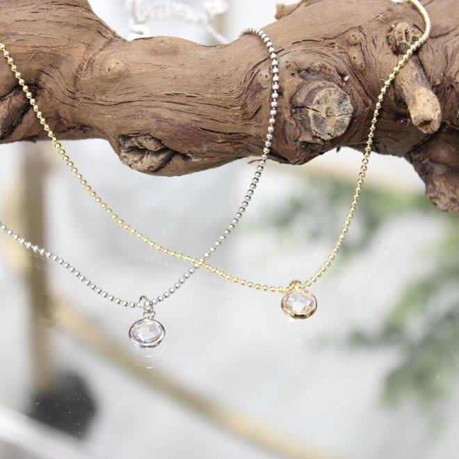 Oorbellen Zilver- Staafjes Diamond