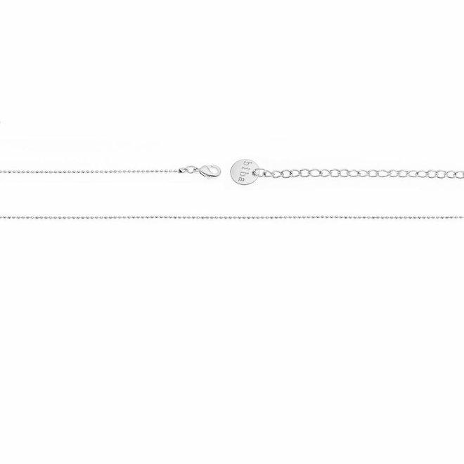 Ketting Zilver- Jewel Crystal Druppel