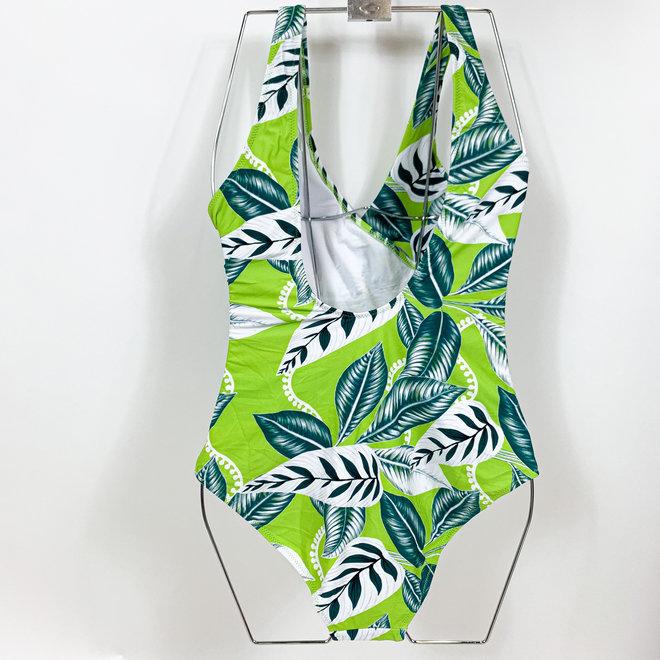 Badpak Leaf Groen Maat XS t/m XL- Supersale