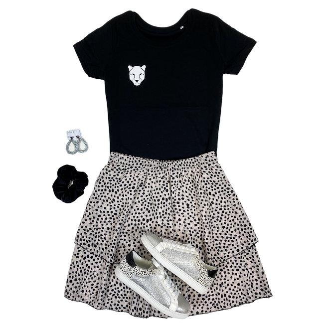 Shirt Zwart/Wit - 'Panterkop (mini)' - Supersale