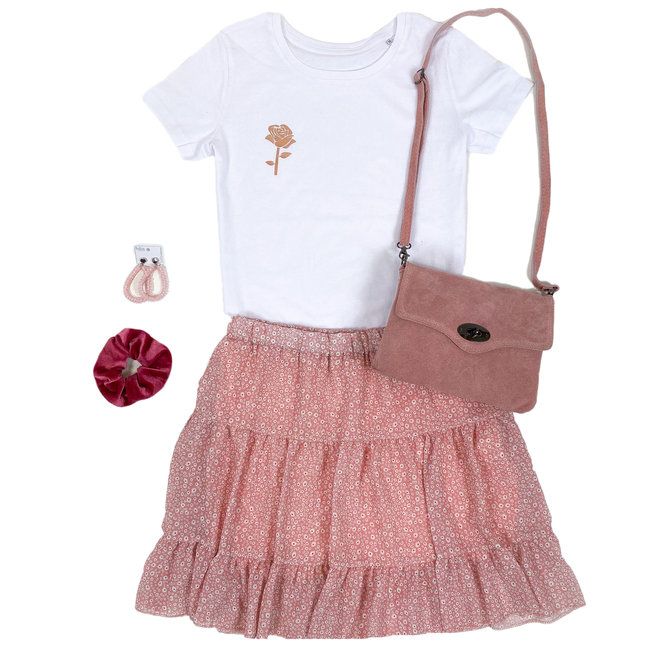Shirt Zwart/Wit - 'Roosje (mini)' - Supersale