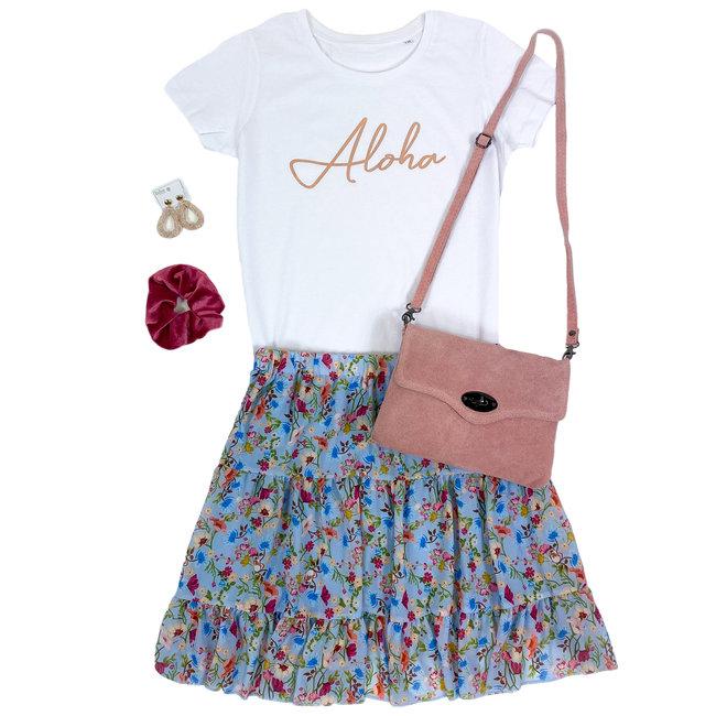 FestyFashion Shirt Hoodie Zwart/Wit  'Aloha' - Supersale