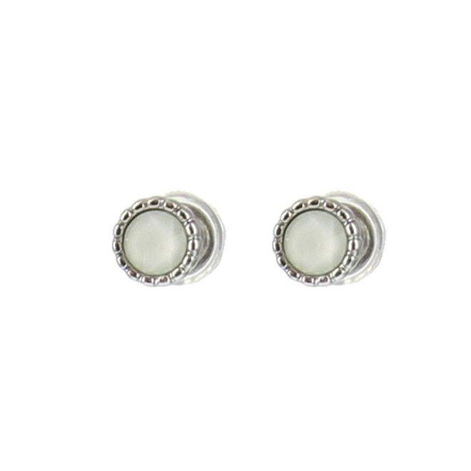 Oorknopjes - Wit/Zilver