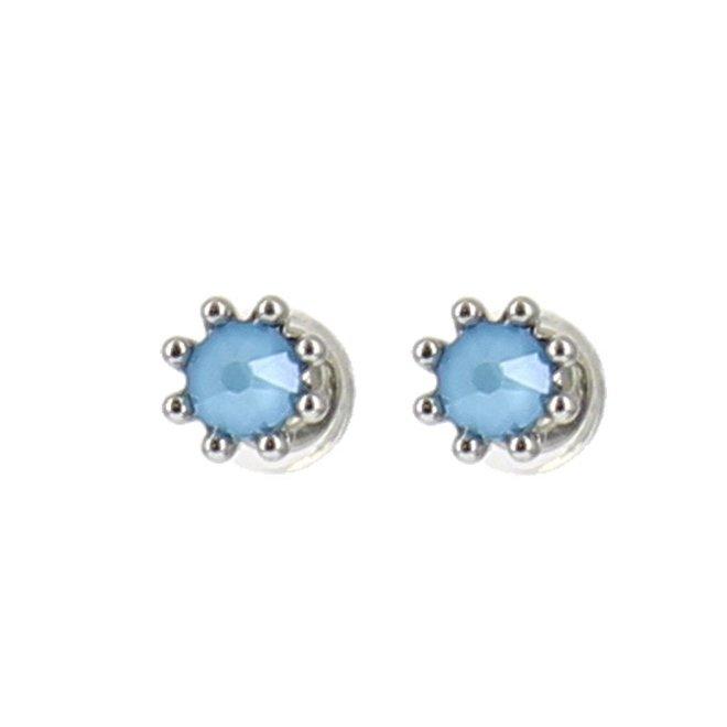 Oorknopjes - Blauw/Zilver