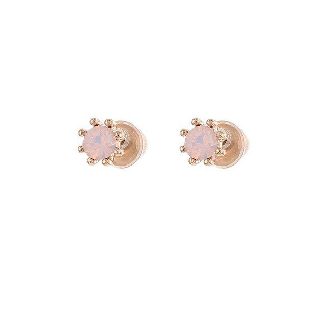 Biba Oorknopjes Rose Roze  Opal