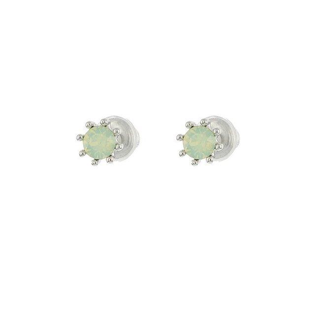 Oorknopjes - Crysolite Opal/Zilver