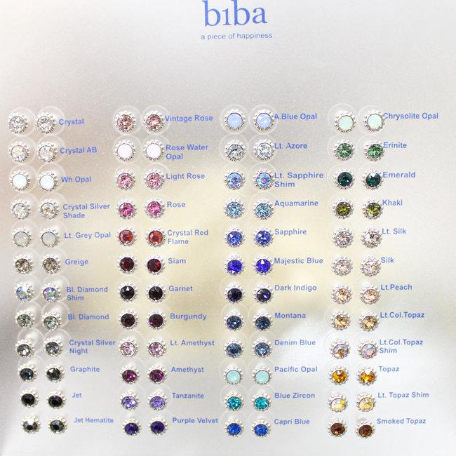 Biba Oorknopjes Zilver Swarovski 81213 (48 kleuren)