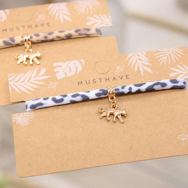 Armband Leopard Grijs - Panter /Rose
