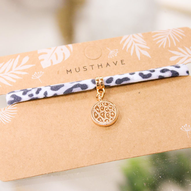 Armband Leopard Grijs - Panter Print/Rose