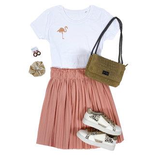 FestyFashion Shirt Zwart/Wit - 'Flamingo (mini)' - Supersale