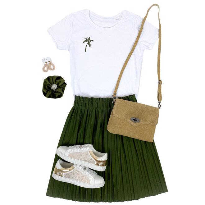Shirt Zwart/Wit - 'Palmboom (mini)' - Supersale