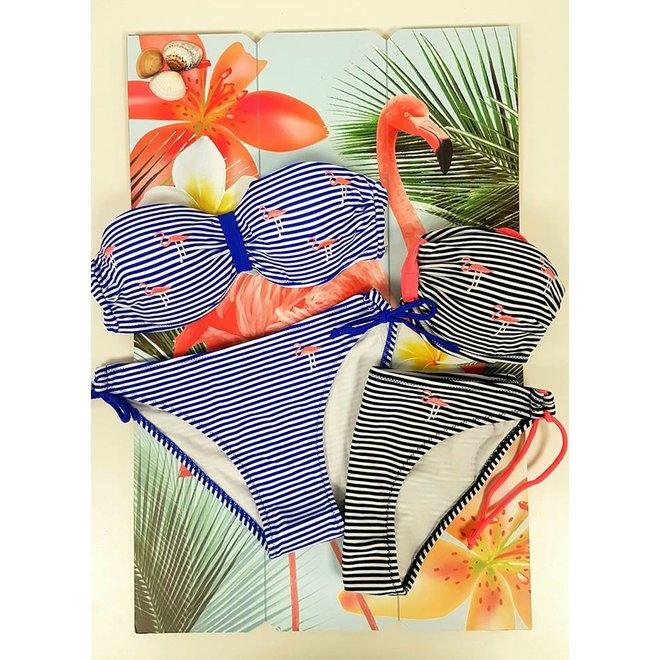 Bikinibroekje Flamingo Stripe Blauw XS&S  - Supersale