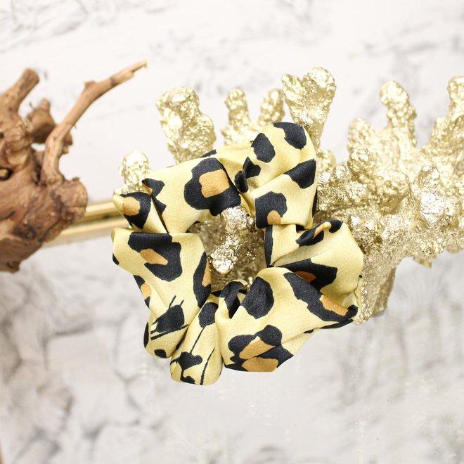 Scrunchie Leopard Geel