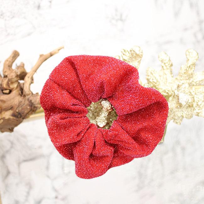 FestyFashion Scrunchie Glitter Rood