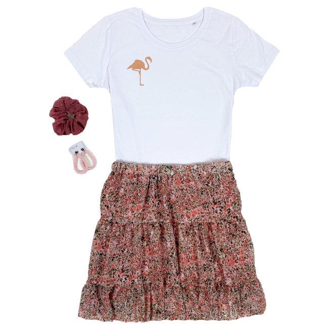 Shirt Zwart/Wit - 'Flamingo (mini)' - Supersale