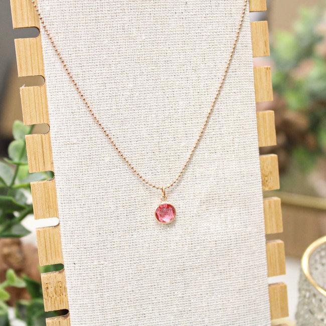 Biba Ketting Rose  Diamond Roze