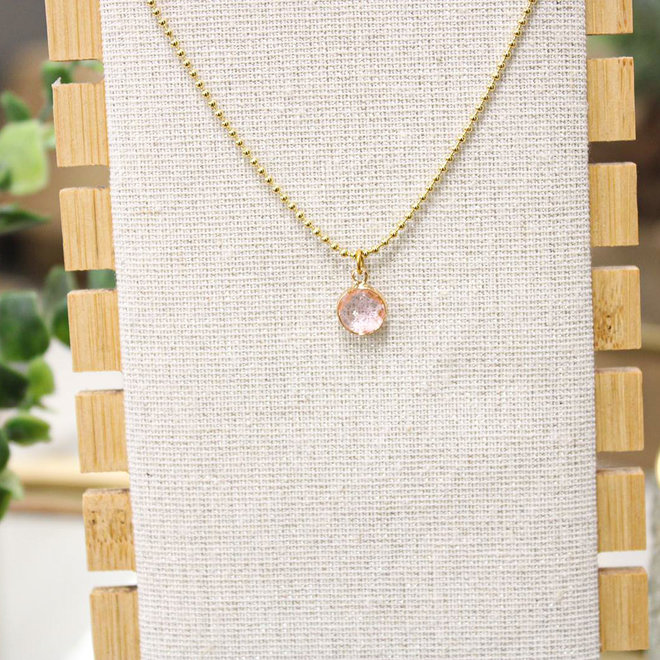 Oorbellen Goud - Diamond Lichtroze
