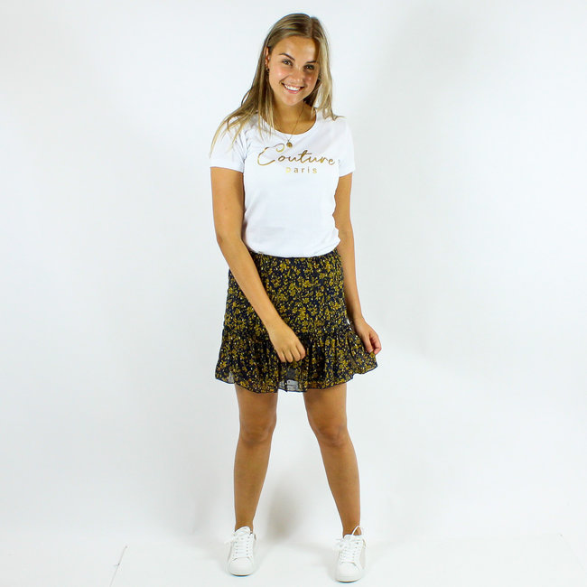 FestyFashion Shirt Hoodie Zwart/Wit  'Couture Paris' - Supersale