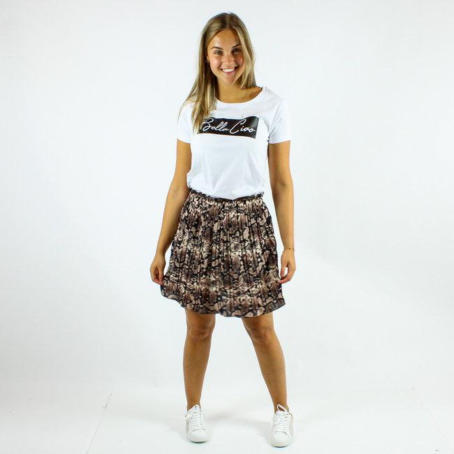 FestyFashion Shirt Hoodie Zwart/Wit - 'Bella Ciao Vierkant' - Supersale