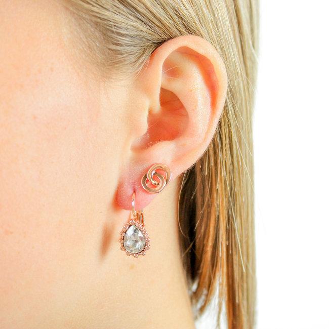 Biba Oorbellen Amber Crystal Rose- Supersale