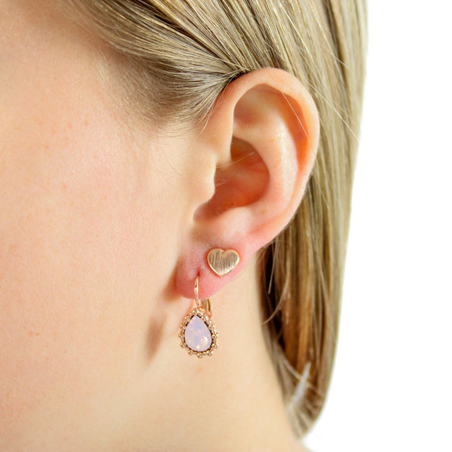 Biba Oorbellen Amber Rose Opal/Rose- Supersale