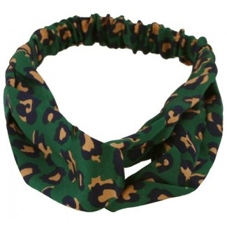 FestyFashion Haarband Leopard Kaki