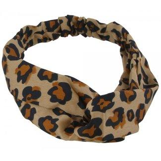 FestyFashion Haarband Leopard Beige