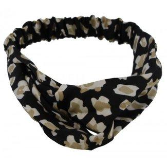 FestyFashion Haarband Leopard Zwart