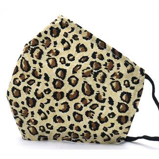 Festyfashion Mondkapje Leopard Bruin