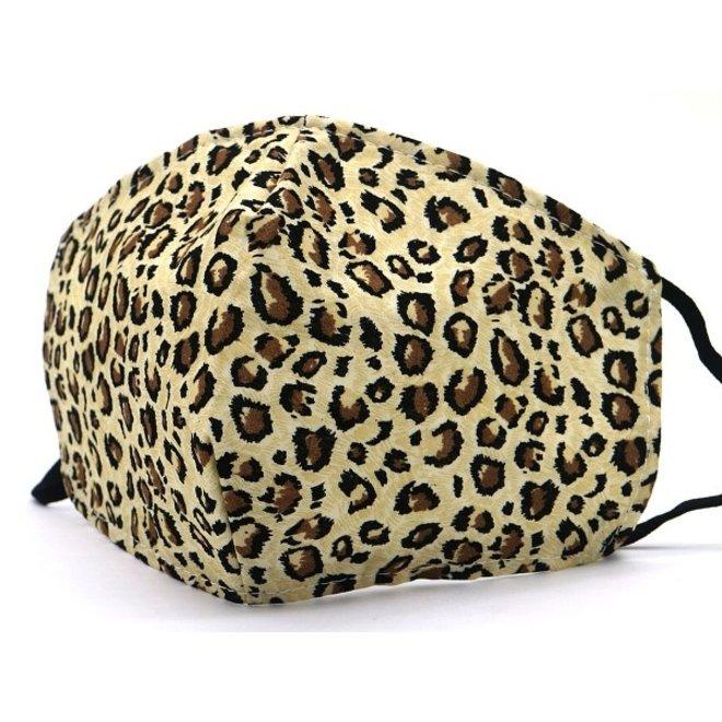 Mondkapje Leopard Bruin