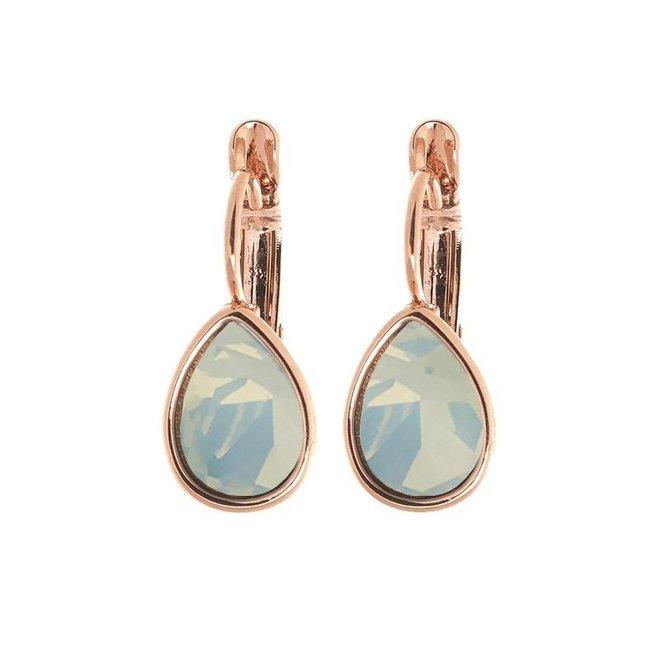 Oorbellen Rose Swarovski Blue Opal