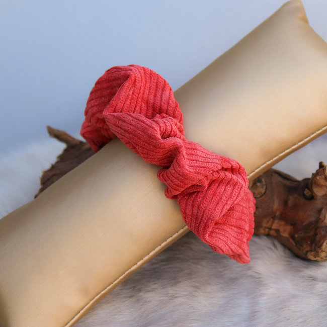 FestyFashion Scrunchie Stripe Koraal