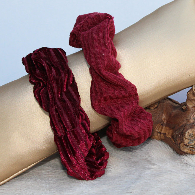 Scrunchie Stripe Bordeaux