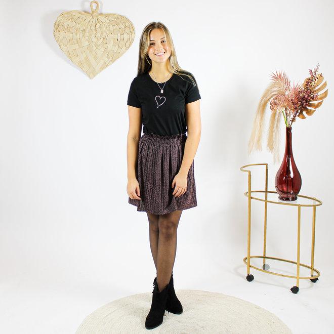 Shirt Zwart/Wit - 'Heart' - Supersale