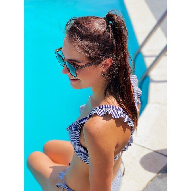 Bikinibroekje Ruffle Blauw XS,S - Supersale