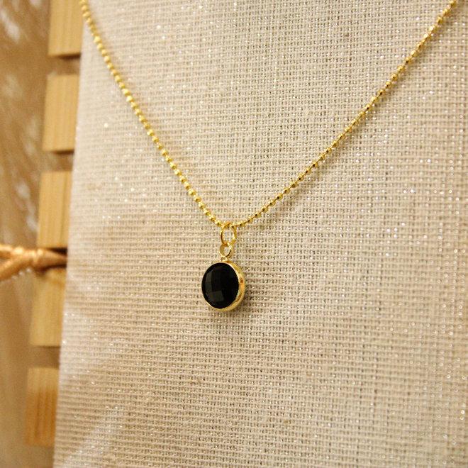 Ketting goud Diamond Zwart