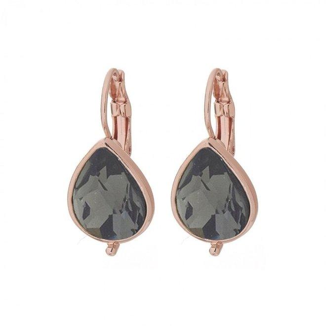 Oorbellen Rose Trend Black Diamond