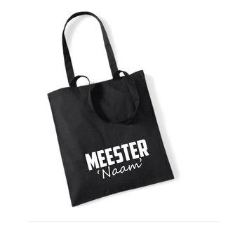 Cotton Bag Meester (meerdere kleuren)
