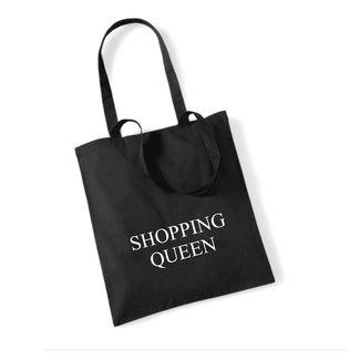 Cotton Bag Shopping Queen (meerdere kleuren)