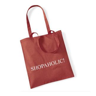 Cotton Bag Shopaholic! (meerdere kleuren)