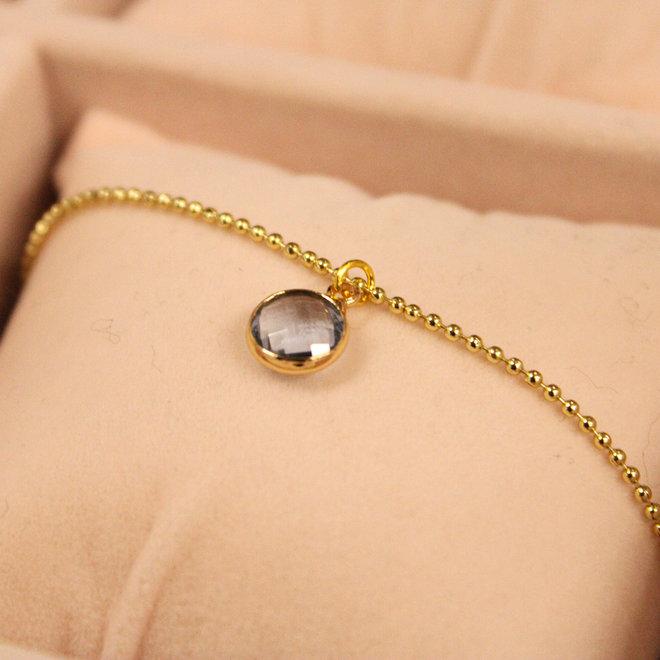 Ketting Goud Diamond Blauw
