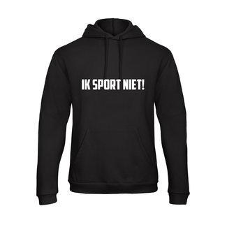 FestyFashion Hoodie Ik Sport Niet!