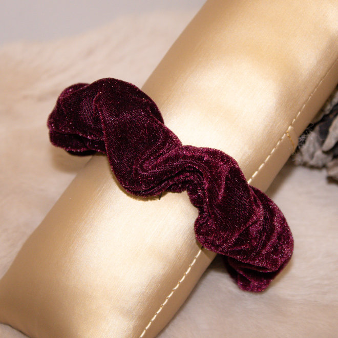 Scrunchie Velvet Bordeaux