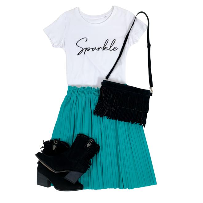 Shirt Zwart/Wit - 'Sparkle' - Supersale